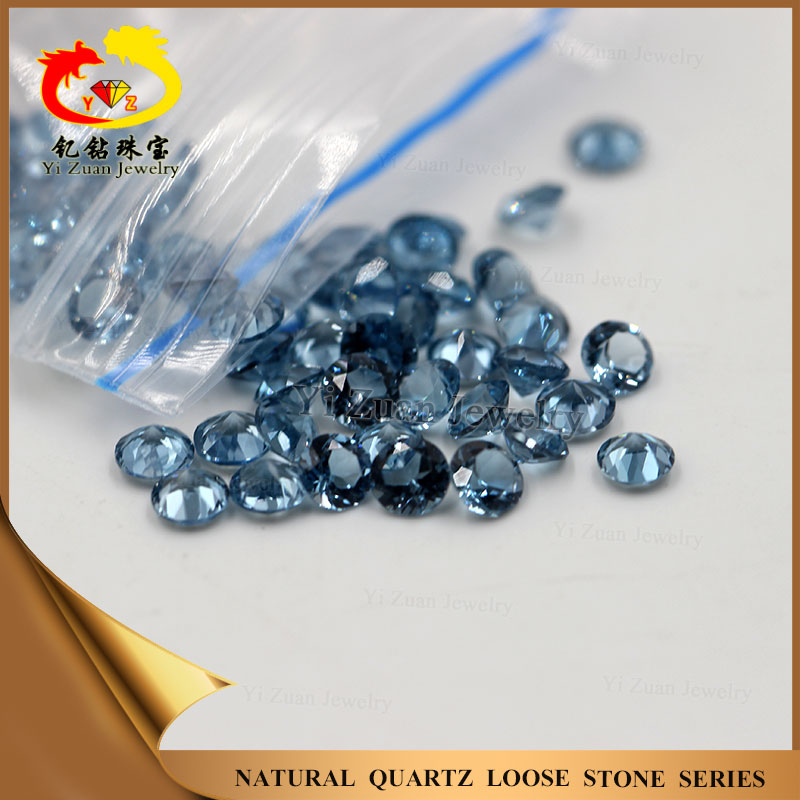 Synthetic loose CZ stones round cut blue Crystal zirconium