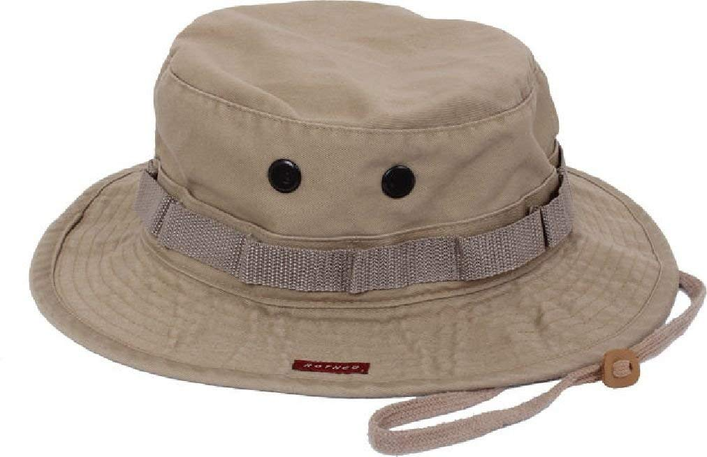Get Quotations · Heavy Duty Poly Cotton Thick Boonie Fishing Jungle Hat  With Wide Brim 91c7cfc7b3a