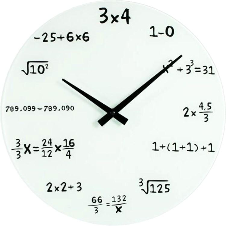 Ecuaciones Matemáticas Cristal Blanco Reloj De Pared - Buy Product ...