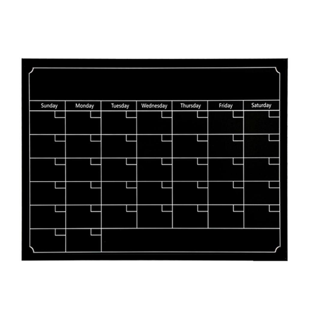 Chalkboard Wall Sticker, Sacow Erasable Chalkboard Calendar Wall Decal Sticker Magnetic Chalkboard Wall Decal Dry Erase Board