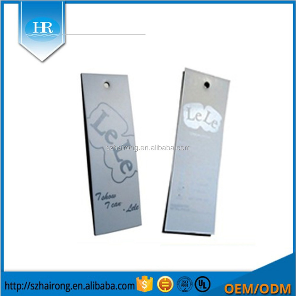 Custom Printing Brand Logo Paper Clothing Hang Tag In Garment Tags With Rope