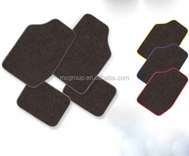 Carpet 4-Piece Floor Mats Set w/ Driver Side Heal Pad Car Truck Auto Grey