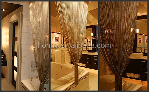 Custom Made 4mm Stainless Steel Beaded Chain Shower Curtain - Buy ...