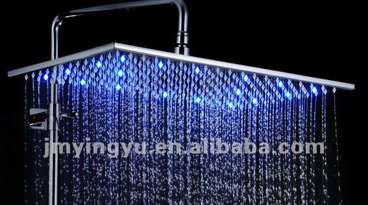 Jfq046cp Bath Rain Light Up Shower Head Set