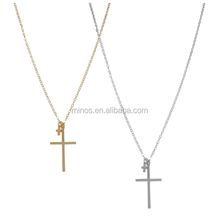 2018 fashionable personalized jewelry newest double cross necklace for women