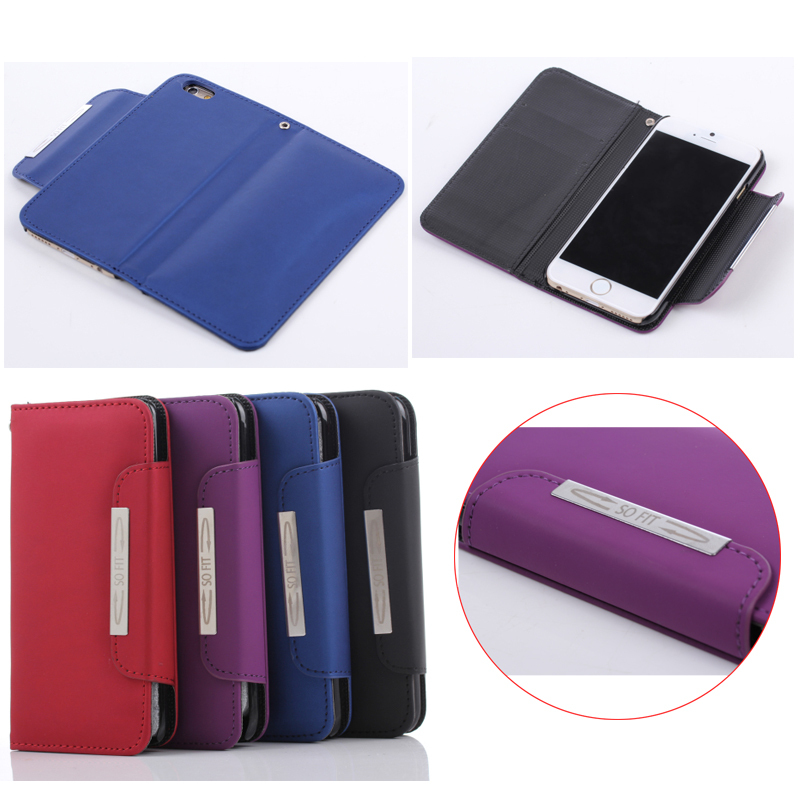 New arrival leather case, flip leather case for iphone 6s plus, magnetic belt clip case for iphone 6s plus