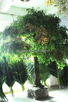 Home Garden Deco Huge Indoor Plastic Artificial 300 Cm Tall Ficus Banyan  Trees Ers10 0901