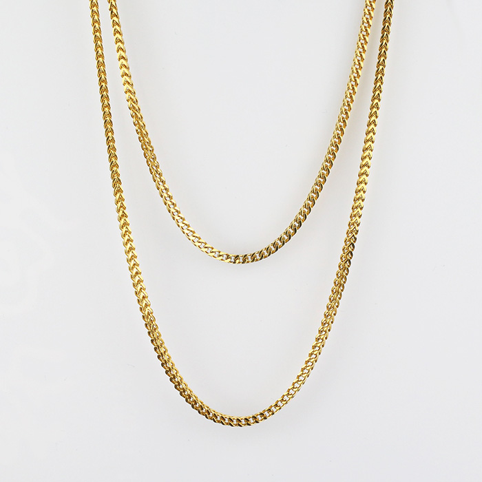 Hip Hop Jewelry 6mm 8mm 10mm 5 Times Gold Plating 18k Gold Rope