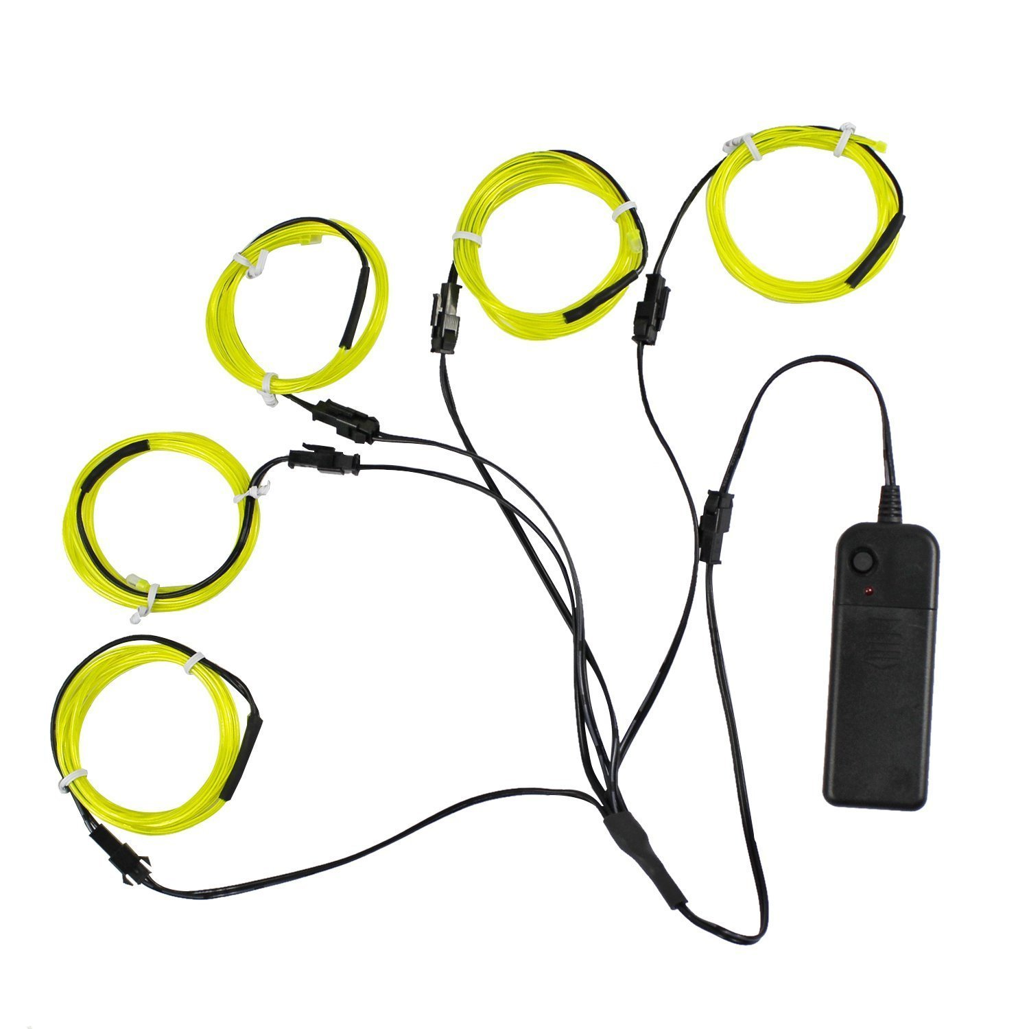 Buy 5m EL Wire with Battery Case Christmas Light Flexible Neon Rope ...