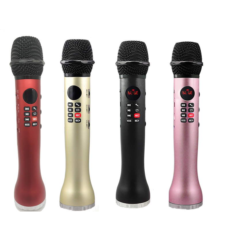 Portable HandsFree MP3/TF card music Audio Player Karaoke Microphone Bluetooth Handheld Wireless Car KTV Microphone speaker
