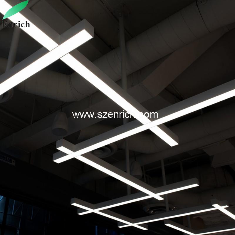 Lustre Plafond Suspendu Lumière Linéaire Trunking Led Cxbrewod