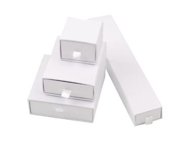 Plain Small White Cardboard Jewelry Box With Sponge Buy Plain