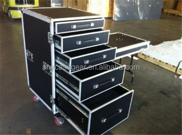 Aluminum Trolley Case With Drawers Rack Flight Storage