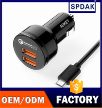 New CC - T6 duplex qualcomm QC2.0 car charger Universal double presented to charge 2.0 car charger