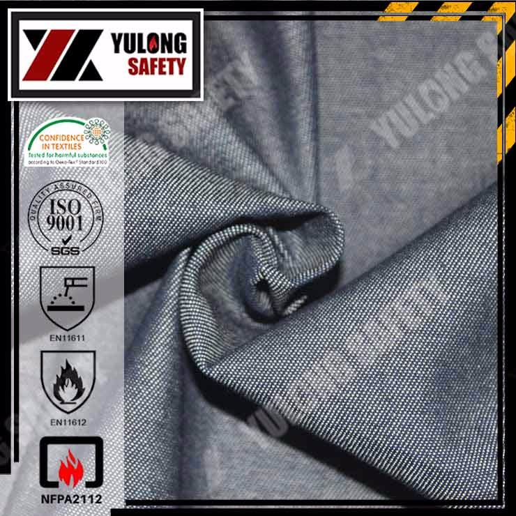 Eco-friendly EN11611 EN11612 100% Cotton Flame Retardant Fabric From Manufacturers