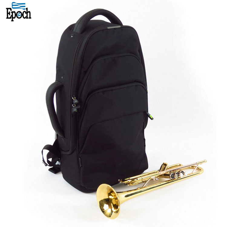Custom awesome quality durable black waterproof polyester trumpet bag,trumpet backpack