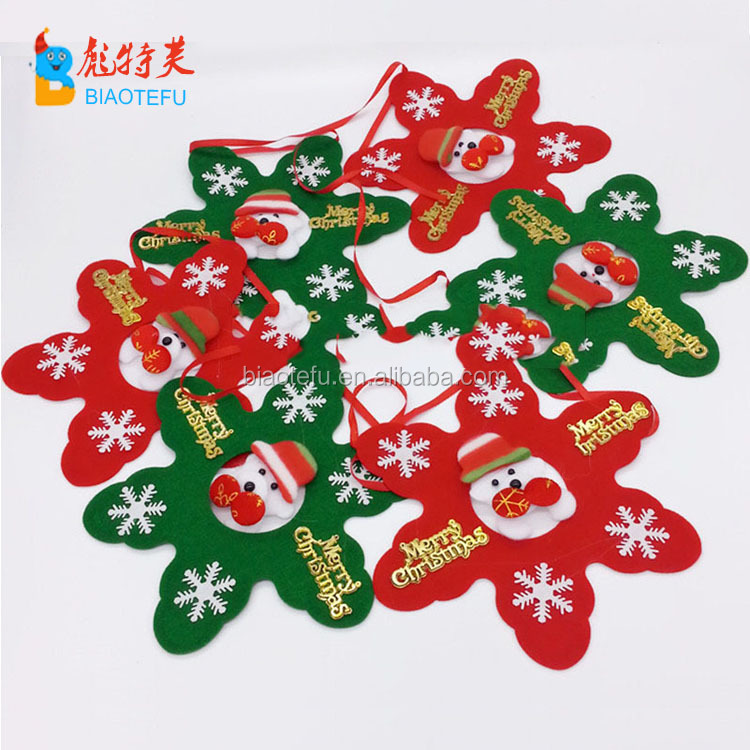 Christmas nonwoven bunting strings flags for decoration christmas flag banner home decoration