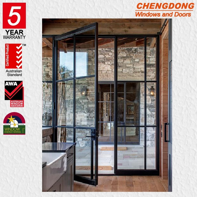 Double French Steel Door With Froster Glass Buy Commercial Double