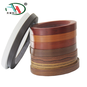 furniture accessory 0.8mm*20mm woodgrain color pvc mdf edge banding