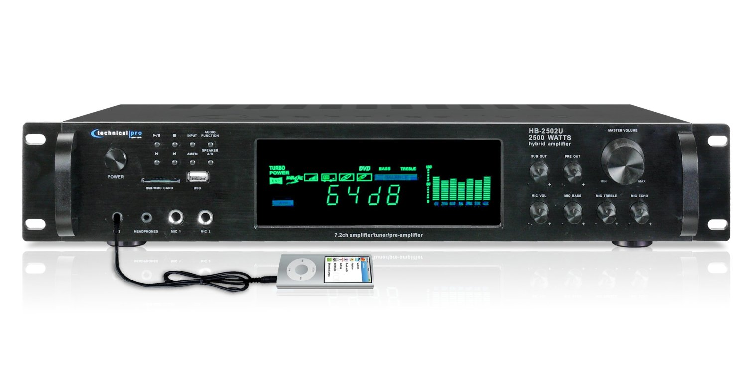 Buy Technical Pro HB2502U Digital Hybrid Amplifier/Premap