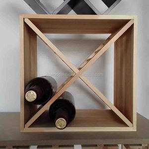 Home Decor Wooden Wine Rack 12 Bottle Bar Kitchen Storage Liquor Holder