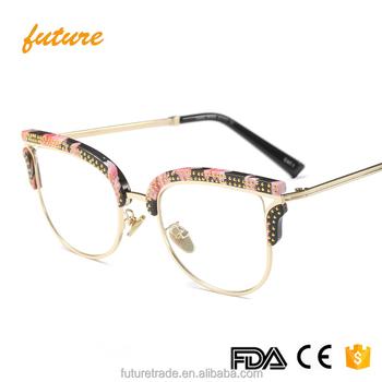 2018 High Quality Eyewear Fashion Trend Cateye Eye Glasses Optical ...