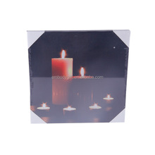 The candle pattern photograph paintings art on canvas, oil painting on canvas