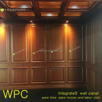 integrated WPC wood plastic composite wall panel and cladding