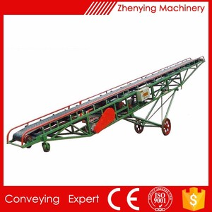 Portable corn belt conveyor transportation