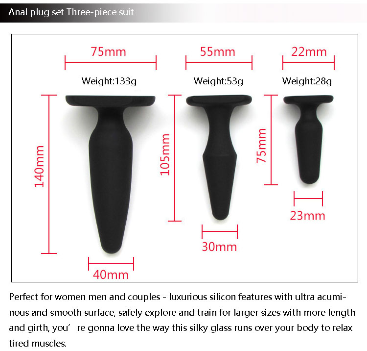 Newest design sex toy male girl masturbation safety hand silicone sex anal plug