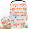 Custom Cute Fox Pattern Baby Car Seat Cover Wholesale Car Seat Covers Baby Hat Set Toddler Car Seat Cover
