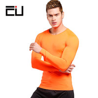 OEM/ODM compression shirts long sleeve breathable tops rash guard base layer sublimation tights Sports wear