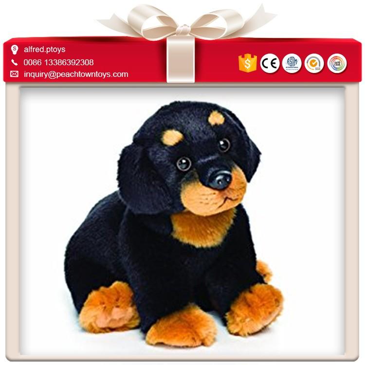 Warna Hitam Lembut Boneka Mainan Anjing Rottweiler Buy Rottweiler Product On Alibaba Com