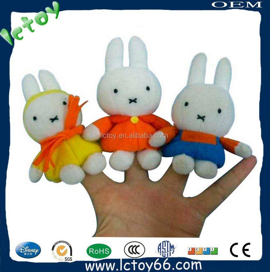 Wholesale hot sale plush rabbit animal finger puppet and story