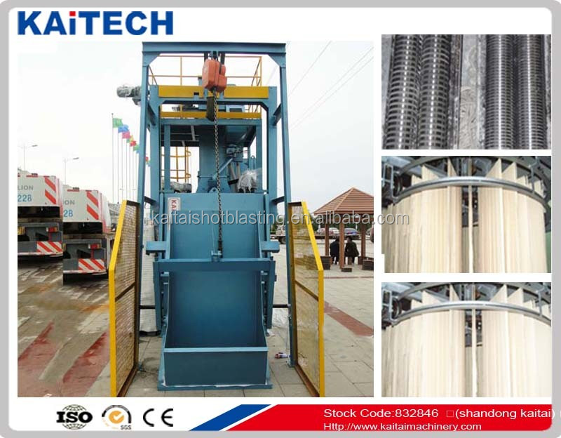QR3210 tumble belt automatic loading type sand blast machine for small /medium castings oversea after sales service provided