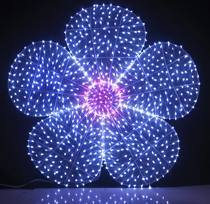 Handmade Led Rope Lights White Flower Shape Motif Led Lights