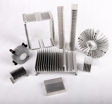 2018 aluminium alloy heat sink, 6063 t5 aluminum profile finned heatsink