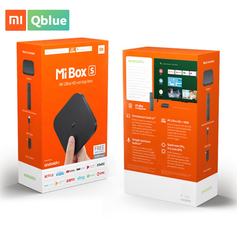 Nueva Generación de Xiaomi Mi caja de TV inteligente S 4K Google Quad Core Android 8,1 Set Top Box