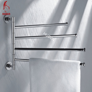 Decorative bathroom rotated extendable towel rack