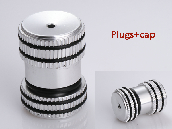 Din tank valve threaded dust plug protector aluminum cap