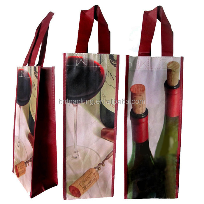 low price eco custom reusable folding shopping handle lamination nonwoven bag wholesale