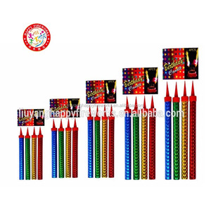 HOT SALE! Happy Fireworks Birthday Candle Indoor Smokeless and smelless birthday candle