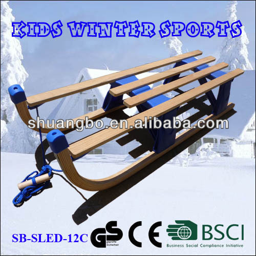 CE Certificate Wooden Snow Slide for Winter Toys 110CM