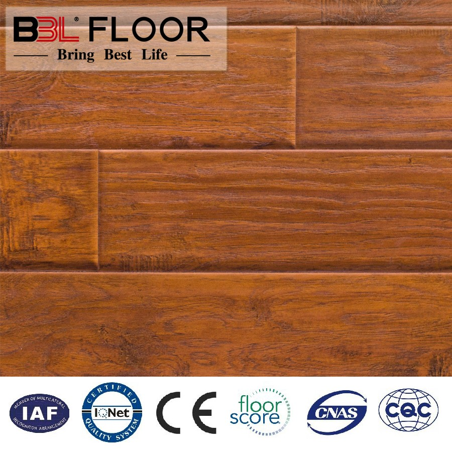 Floorscore ISO9001 ISO14001 CE CQC Certify BBL made project source laminate flooring