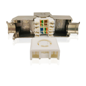 RJ45 CAT6 Toolless Self-Locking Zinc Alloy Keystone Jack Coupler for Wall Plate