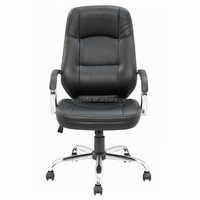 2016 Comfortable leather office swing chair luxury pu leather
