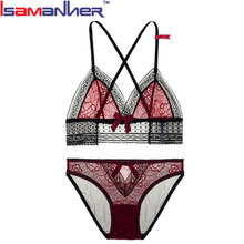 Women's floral lace bra and thong set hot sexy desi bra panty