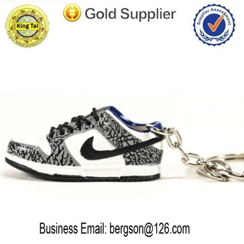 Wholesales cheap custom 3d soft pvc sneaker /mini Nike shoe keychain
