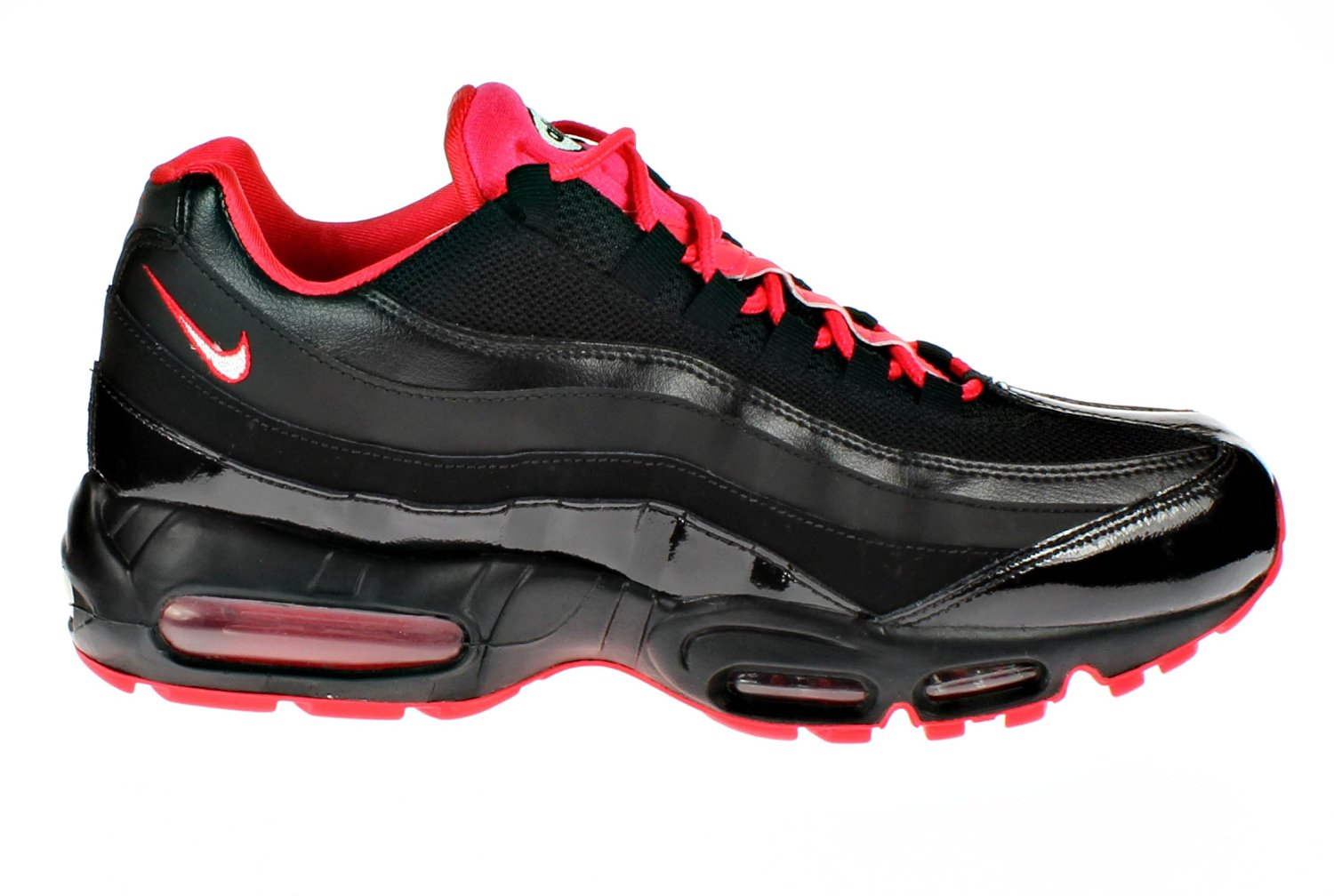 detailed look 29761 0c30b Get Quotations · Nike Wmns Air Max 9 Black Red Running Shoes 698014-060 US  10.5