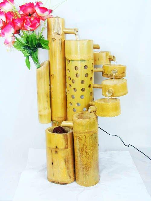Mayorista de bamb fuente de agua cx05318 artesan a feng for Bambu seco para decoracion
